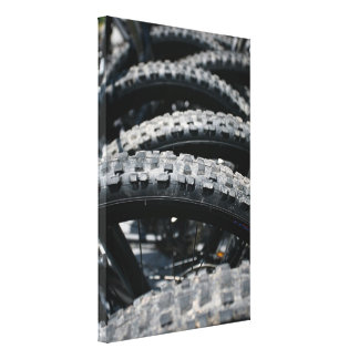 Mountain bike tires canvas print