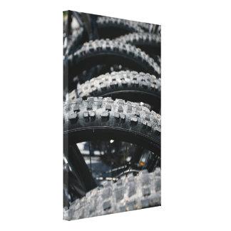 Mountain bike tires canvas prints