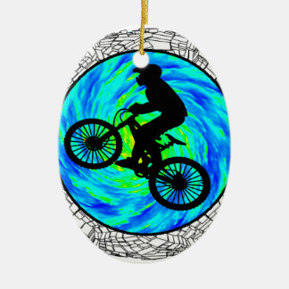 MOUNTAIN BIKE TRACKED CHRISTMAS ORNAMENT