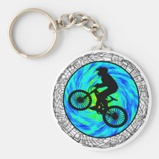 MOUNTAIN BIKE TRACKED KEY RING