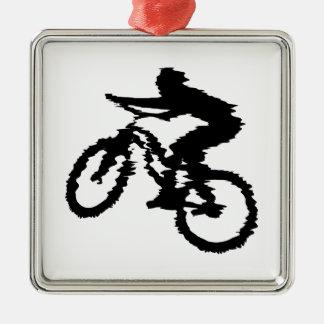 Mountain Biker Art Christmas Ornament