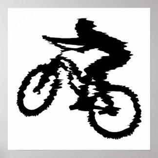 Mountain Biker Art Poster