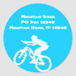 Mountain Biker Art Stickers