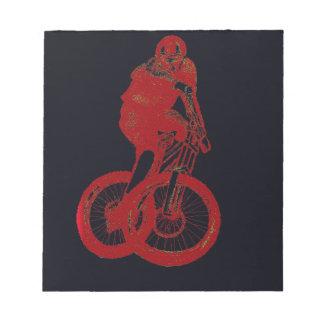 Mountain Biker MTB BMX CYCLIST Notepad