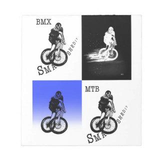 Mountain Biker MTB BMX CYCLIST Stickers Notepad