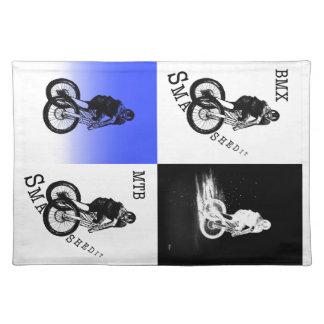 Mountain Biker MTB BMX CYCLIST Stickers Placemat