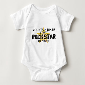 Mountain Biker Rock Star by Night Baby Bodysuit