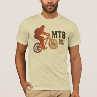 Mountain Biker Silhouette, Blood Sweat & Gears T-Shirt