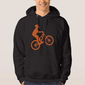 Mountain biker silhouette hoodie