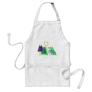 Mountain Biking Abstract Aprons