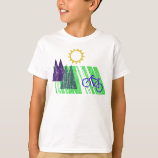 Mountain Biking Abstract T-Shirt