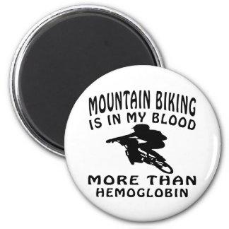 Mountain Biking Design 6 Cm Round Magnet