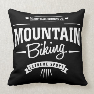 Mountain Biking Extreme Sport Throw Pillow