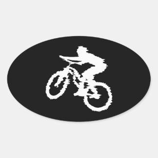 Mountain Biking Fast Oval Sticker