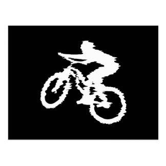 Mountain Biking Fast Postcard