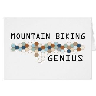 Mountain Biking Genius Greeting Cards