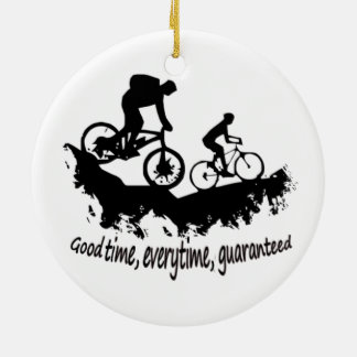Mountain Biking Good Time Inspirational Quote Christmas Ornament