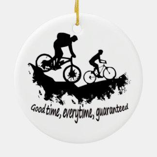 Mountain Biking Good Time Inspirational Quote Christmas Ornament