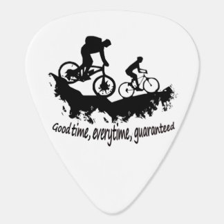 Mountain Biking Good Time Inspirational Quote Guitar Pick