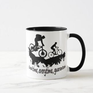Mountain Biking Good Time Inspirational Quote Mug