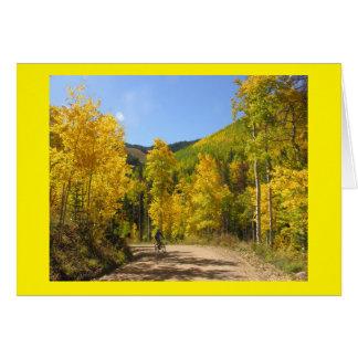 Mountain Biking in the Rockies Card