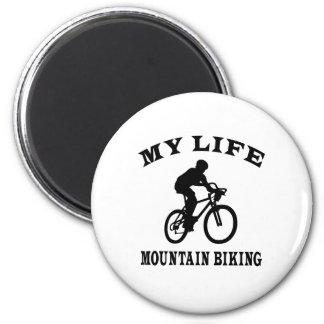 Mountain Biking My Life Fridge Magnet