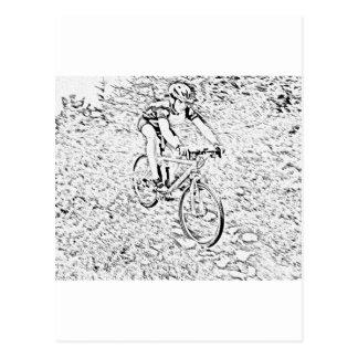 Mountain biking postcards
