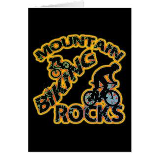 Mountain Biking Rocks Greeting Card