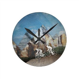 Mountain Biking Round Clock