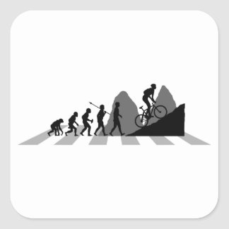 Mountain Biking Square Sticker