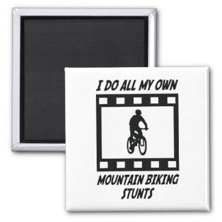 Mountain Biking Stunts Square Magnet