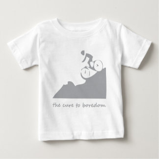 Mountain biking, the cure to boredom baby T-Shirt