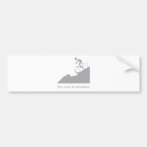 Mountain biking, the cure to boredom bumper sticker
