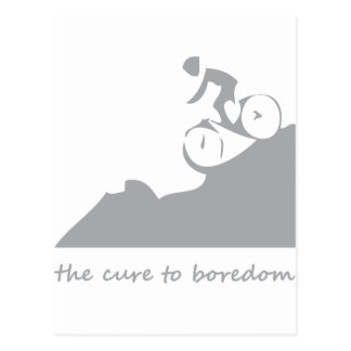 Mountain biking, the cure to boredom postcard