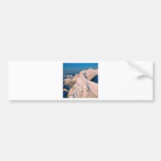 Mountain Birds Eye View Of Alaska Car Bumper Sticker