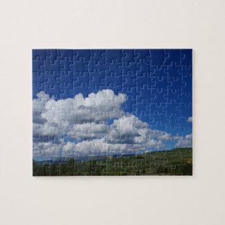 Mountain, blue sky, in Escalante, Utah Jigsaw Puzzle