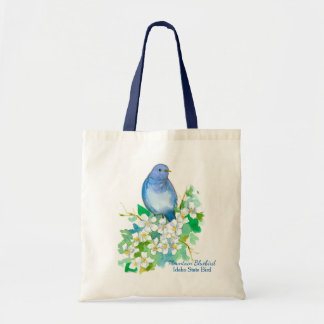 Mountain Bluebird Syringa State of Idaho Tote Bag