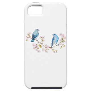 Mountain Bluebirds on Sakura Branch iPhone 5 Case