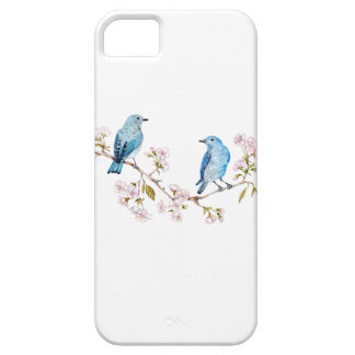 Mountain Bluebirds on Sakura Branch iPhone 5 Cover