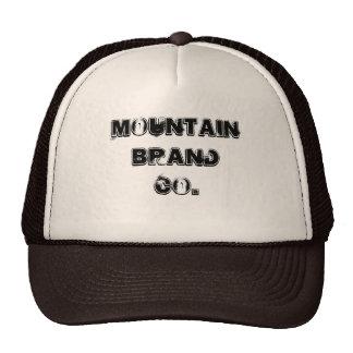mountain brand black and white snapback cap