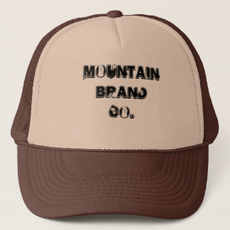 mountain brand black and white snapback trucker hat