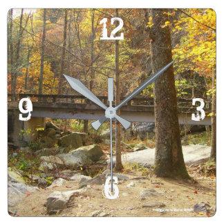 Mountain bridge clock