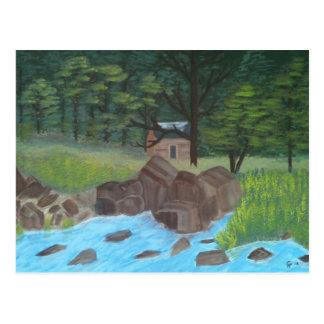 Mountain Cabin Postcard