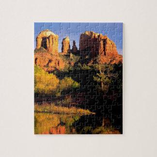 Mountain Cathedral Rock Sedona Arizona Jigsaw Puzzle