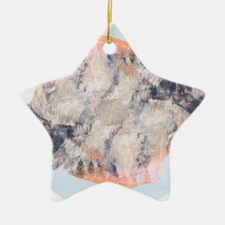 Mountain Ceramic Star Decoration