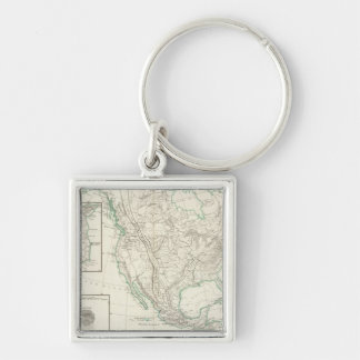 Mountain chains in North America Key Ring