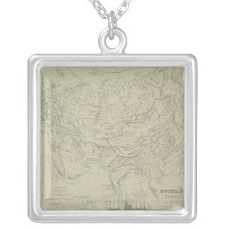 Mountain Chains Silver Plated Necklace