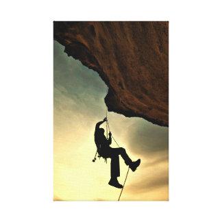 Mountain climber beautiful scenery canvas print