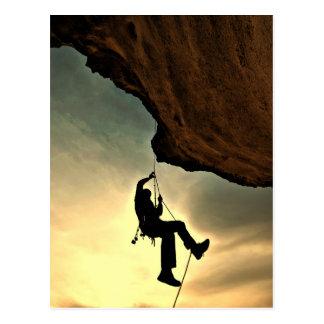 Mountain climber beautiful scenery postcard