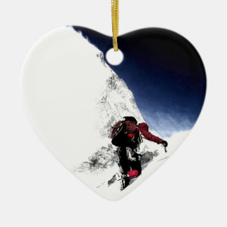Mountain Climber Extreme Sports Christmas Ornament